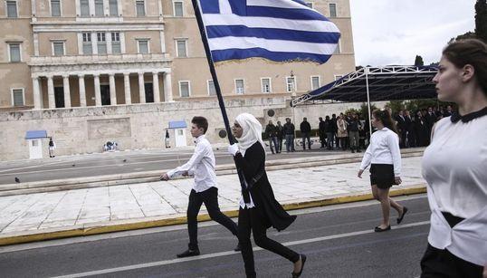 Η μαθητική παρέλαση στην Αθήνα σε