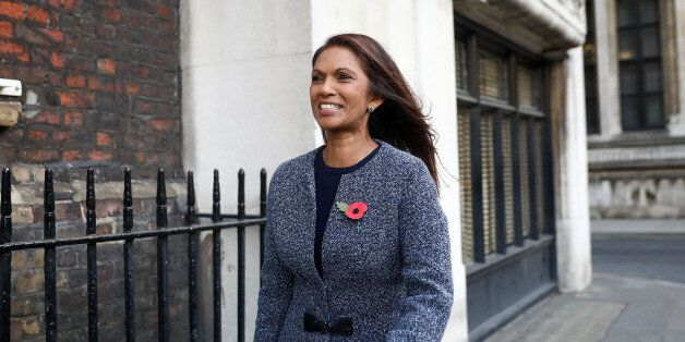 Gina Miller, founding partner of SCM Private LLP, left, reacts as she leaves the High Court in London,...