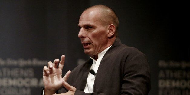 Yanis Varoufakis, former finance minister of Greece at the panel talking about
