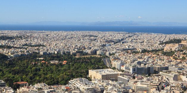 Aerial view of the city, Athens,