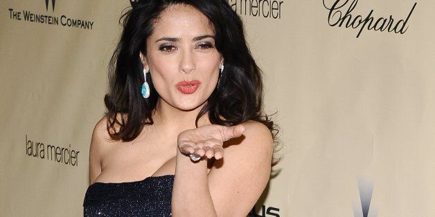Salma Hayek at The Weinstein Company 2013 Golden Globes After Party at The Old Trader Vic's at the Beverly...