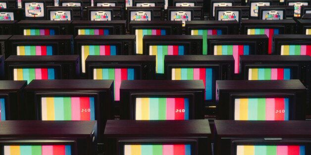 Old technology. Color analog television