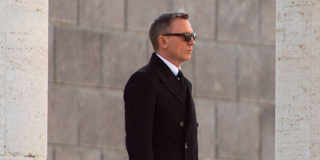 ROME, ITALY - FEBRUARY 19:Daniel Craig is seen on location for the filming of Spectre on February 19,...