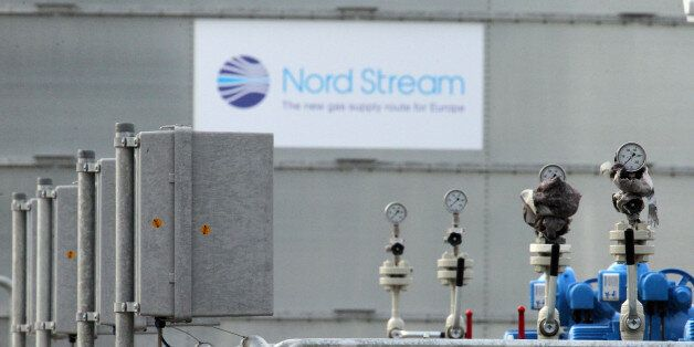 LUBMIN, GERMANY - NOVEMBER 08: A general view of central facility where the Nord Stream Baltic Sea gas...