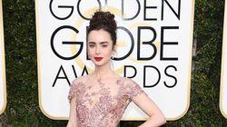 Golden Globes 2017: le rose à l'honneur sur le tapis rouge