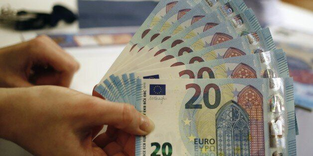 New 20 Euro banknotes are presented at the Austrian national bank in Vienna February 24, 2015. The banknote...