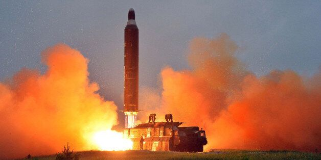This undated picture released from North Korea's official Korean Central News Agency (KCNA) on June 23,...