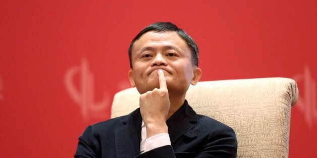 Founder and Executive Chairman of Alibaba Group Jack Ma meets Facebook founder and CEO Mark Zuckerberg...