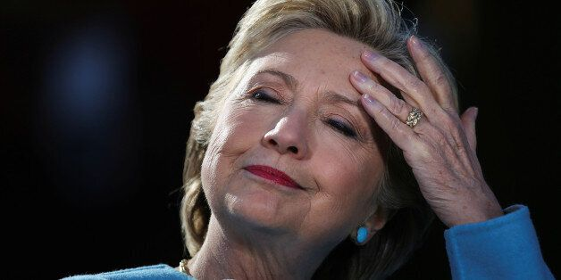U.S. Democratic presidential nominee Hillary Clinton attends a campaign rally at Alumni Hall Courtyard,...