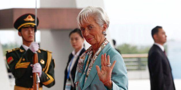International Monetary Fund Managing Director Christine Lagarde arrives at the G-20 summit in Hangzhou,...