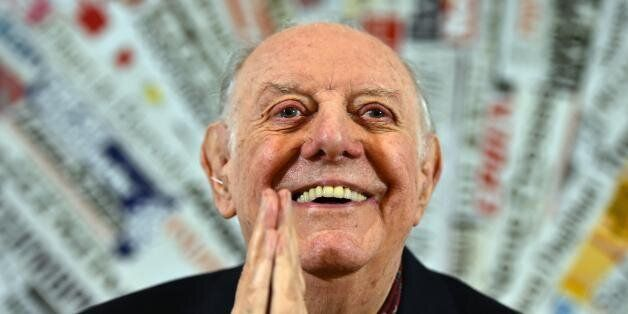 Recipient of the 1997 Nobel Prize for Literature, Dario Fo attends a press conference at the Foreign...
