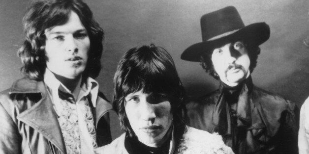 (GERMANY OUT) Pink Floyd - Musikgruppe, Grossbritannienv. links: David Gilmour, Roger Waters,Nick Mason,...