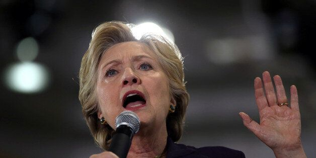 U.S. Democratic presidential nominee Hillary Clinton speaks at a voter registration rally at Wayne State...