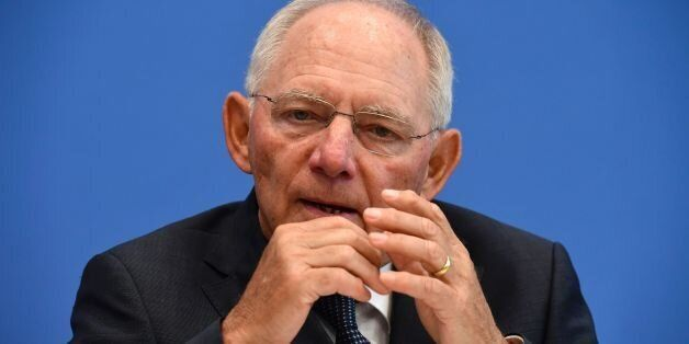 German Finance Minister Wolfgang Schäuble attends a press conference on the German budget plan for 2017...