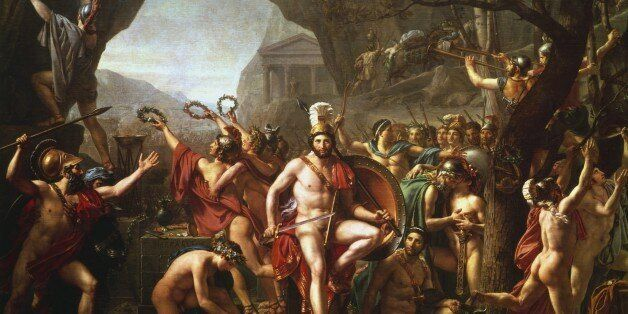 UNSPECIFIED - CIRCA 1754: Leonidas at Thermopylae' (1814). Leonidas (dc480 BC) king of Sparta from 491...