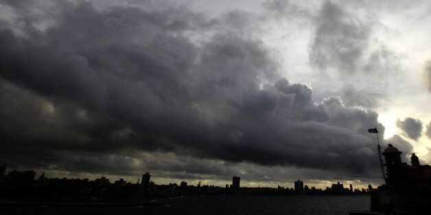Storm clouds are seen over the skyline of Havana September 29, 2010. Short-lived Tropical Storm Nicole...