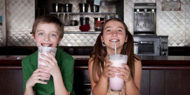 Boy and girl enjoying