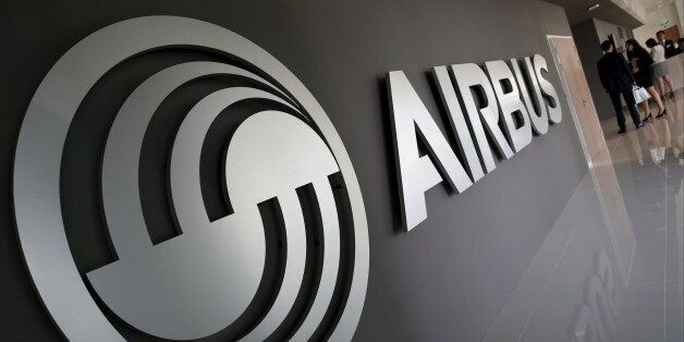 An Airbus signage is pictured at the new Airbus Asia Training Centre in Singapore April 18, 2016. REUTERS/Edgar...