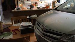 Αμερικανός πέρασε το αυτοκίνητό του στην κουζίνα από ανοιχτό παράθυρο για να το προστατέψει από τον