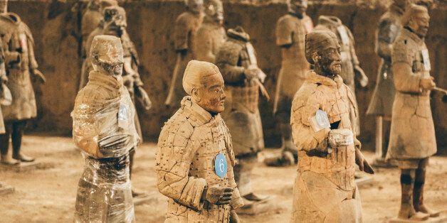 Clay statues of Chinese Qin dynasty