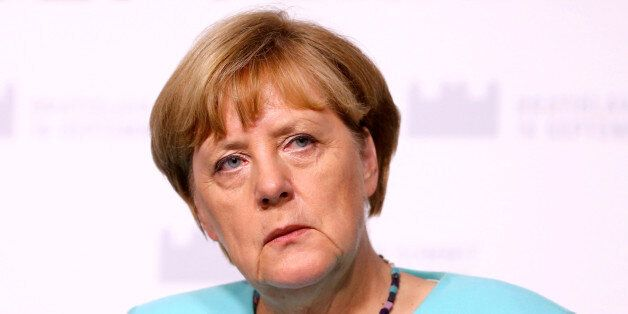 German Chancellor Angela Merkel attends news conference after the European Union summit- the first one...