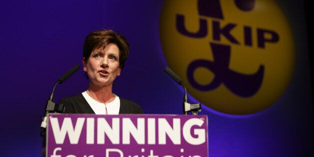 New leader of the anti-EU UK Independence Party (UKIP) Diane James gives an address at the UKIP Autumn...