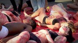 Ακτιβιστές μαρκάρουν τα κορμιά τους με πυρωμένο σίδερο διαμαρτυρόμενοι για την κακοποίηση των