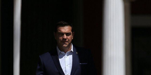 Greek Prime Minister Alexis Tsipras arrives to welcome leaders who will participate at a summit of southern...