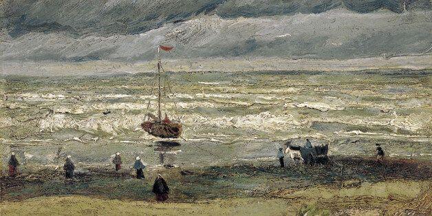 Άποψη της παραλίας του Σεβενίνγκεν (1882). Ο ένας από τους δύο πίνακες που βρέθηκαν μετά από 14