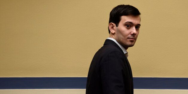 Pharmaceutical chief Martin Shkreli arrives on Capitol Hill in Washington, Thursday, Feb. 4, 2016, to...