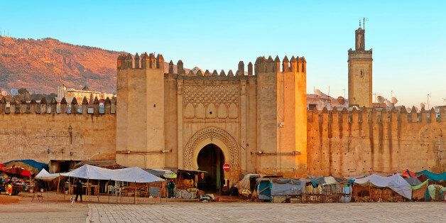 Gate to ancient medina of Fez,