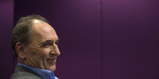 George Stathakis, Greece's economy minister, reacts during an interview in Athens, Greece, on Monday,...