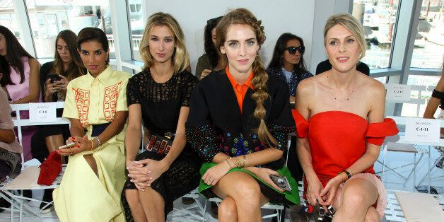 Deena Abdulaziz, from left, Lauren Remington Platt, Chiara Ferragni and Sofie Valkiers attend the New...