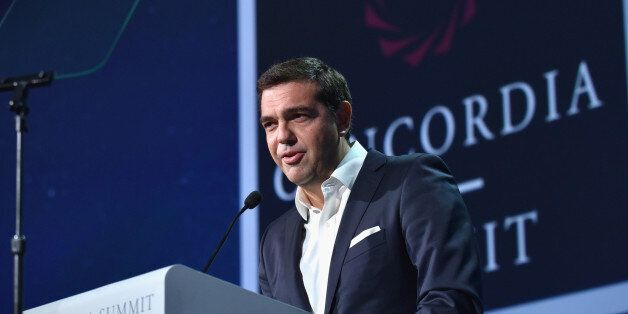 NEW YORK, NY - SEPTEMBER 20: Prime Minister, The Hellenic Republic H.E. Alexis Tsipras attends 2016 Concordia...