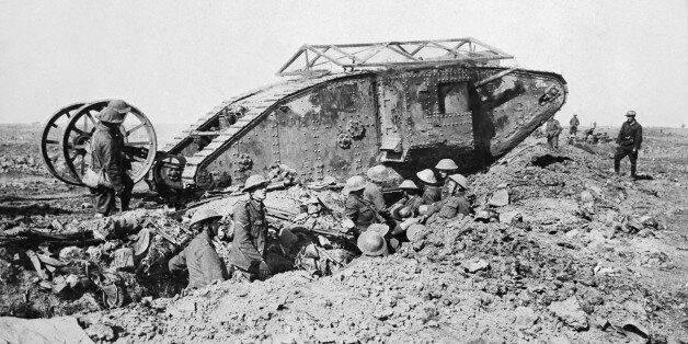 Ministry Of Information First World War Official Collection, Mark I 'Male' Tank of 'C' Company that broke...