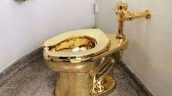 Οι επισκέπτες του μουσείου Guggenheim μπορούν να κάνουν την ανάγκη τους στην ολόχρυση τουαλέτα