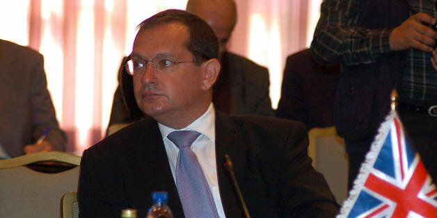 British ambassador to Syria, Simon Collis, attends a meeting of the Iraqi Neighbours Border Security...