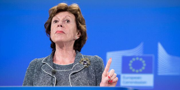 European Commissioner for the Digital Agenda for Europe, Neelie Kroes addresses the media on better internet...