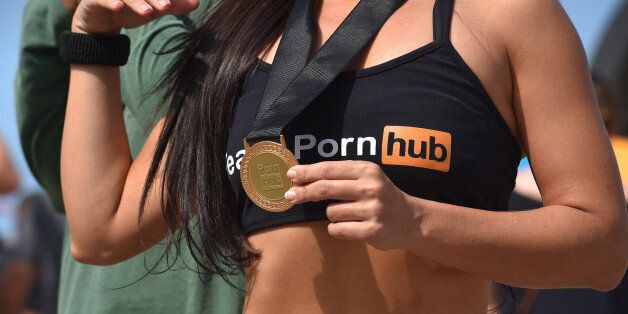 31st Rio 2016 Olympics / PreviewsIllustration / Sex website Pornhub promotion girls / Hostess / sexy...