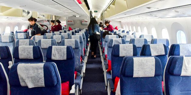 CHENGDU, CHINA - MAY 26: (CHINA OUT) The images shows the Boeing 787-9 Dreamliner inside at Chengdu Shuangliu...
