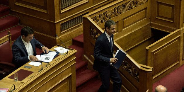 HELLENIC PARLIAMENT, ATHENS, ATTIKI, GREECE - 2016/07/21: Leader of New Democracy and leader of the opposition,...