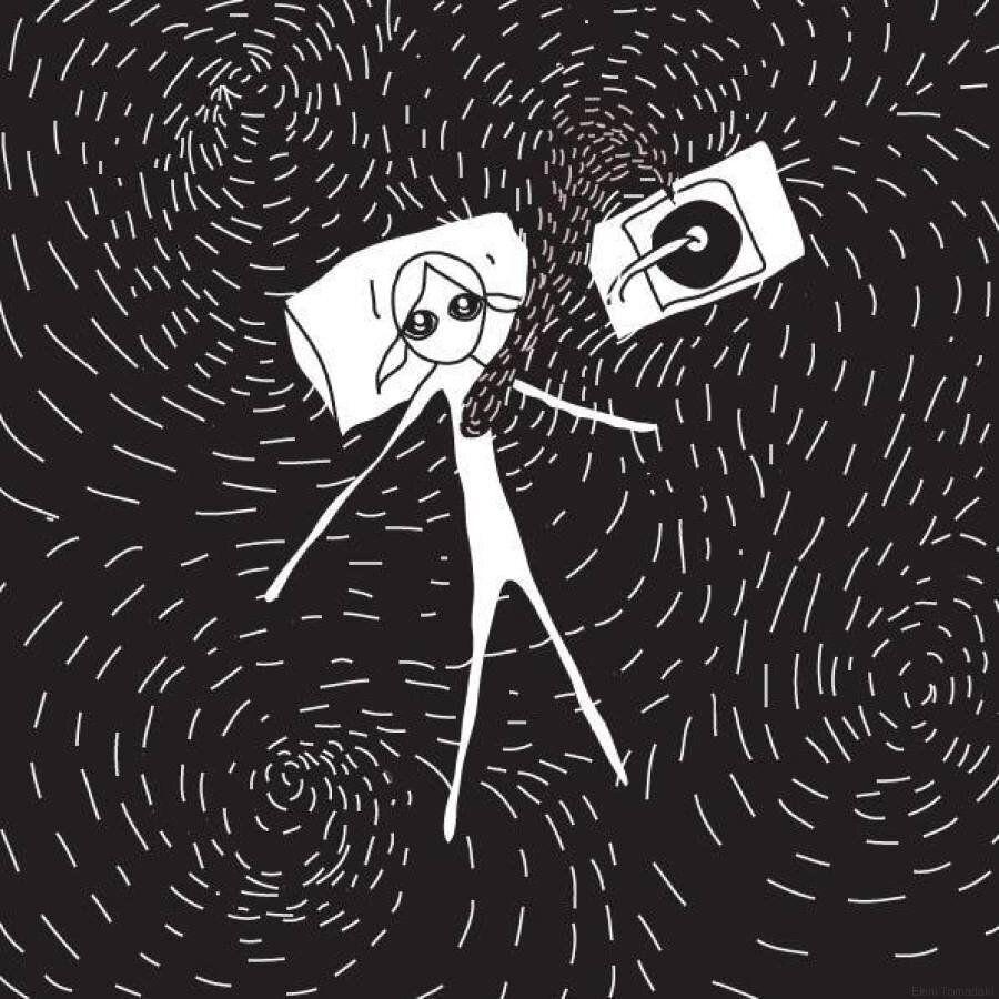 Eleni is bored again: Η Ελένη Τωμαδάκη δημιουργεί απλά, λιτά σκίτσα για μια καθόλου απλή