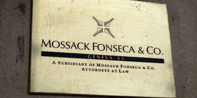 A plate of the Geneva office of the law firm Mossack Fonseca is seen on June 16, 2016 in Geneva.An information...