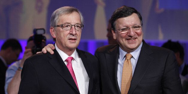 Jean-Claude Juncker, left, with Jose Manuel Barroso President of the European Commission, Conservative...