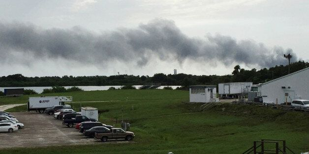 Smoke rises from a SpaceX launch site Thursday, Sept. 1, 2016, at Cape Canaveral, Fla. NASA said SpaceX...