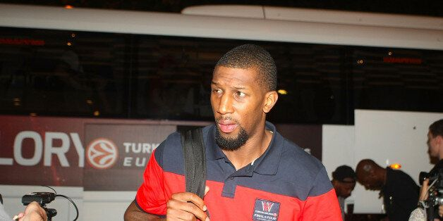 MADRID, SPAIN - MAY 13: Demetris Nichols during the CSKA Moscow arrival to Turkish Airlines Euroleague...
