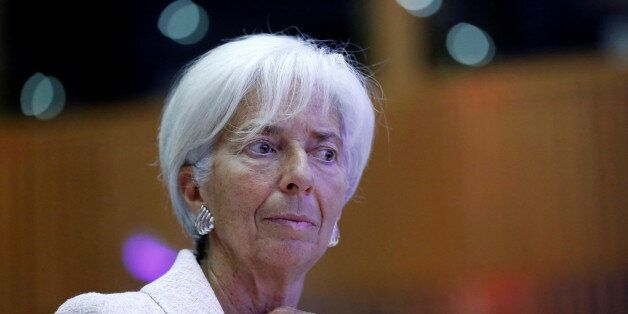 International Monetary Fund (IMF) Managing Director Christine Lagarde attends the 60th anniversary of...