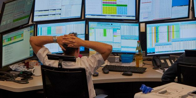Floor trading at the German Stock Exchange in Frankfurt, Germany, 06 July 2015. Stocks and bonds in Europe...