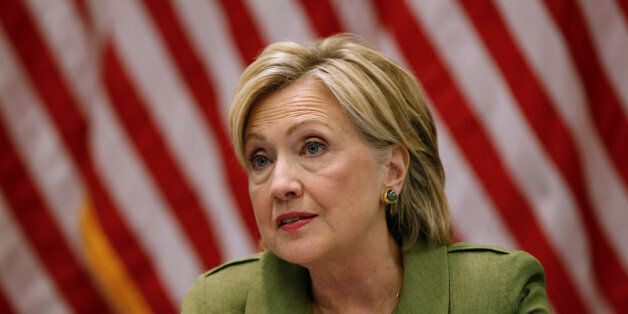U.S. Democratic presidential nominee Hillary Clinton delivers remarks at a gathering of law enforcement...