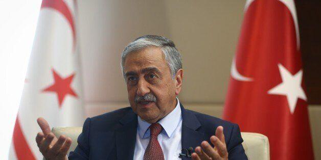 ANKARA, TURKEY - AUGUST 18: Turkish-Cypriot President Mustafa Akinci speaks to the media during an interview...